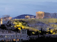 Acropolis landscape in Athens, Greece