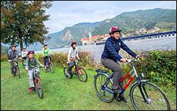 Biking along the Danube River