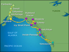 Alaska OA Itinerary Map