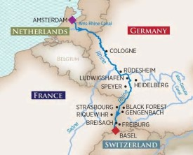Christmas on the Rhine River Cruise itinerary
