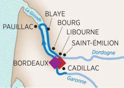 AmaWaterways Taste of Bordeaux River Cruise itinerary