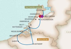 AmaWaterways Tulip Time River Cruise itinerary