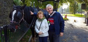 Owners with Jaunting Car in Killarney