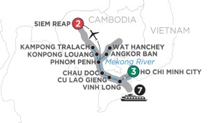 Life on the Mekong River itinerary