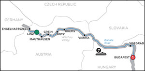 Active & Discovery Cruise on the Danube Eastbound itinerary