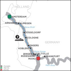 Active & Discover Cruise on Rhine Southbound itinerary