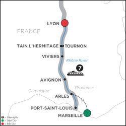 Active & Discovery Cruise on Rhone Northbound itinerary