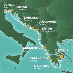 Azamara Club Cruises Adriatic Exploration Voyage itinerary