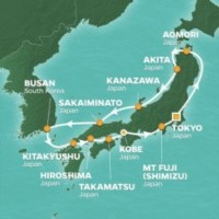 Azamara Club Cruises Circle Japan Intensive Cruise Itinerary