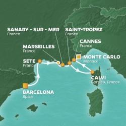 Azamara Club Cruises France Intensive Voyage itinerary