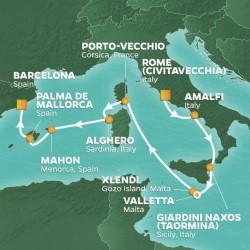 Azamara Club Cruises Islands of the Med Cruise itinerary