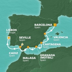 Azamara Club Cruises Spain Intensive Voyage itinerary