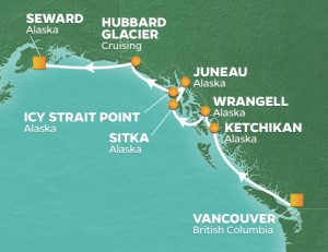 Azamara Club Cruises Alaska Adventure Voyage itinerary