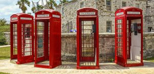 British phone booths in Kings Wharf, Bermuda