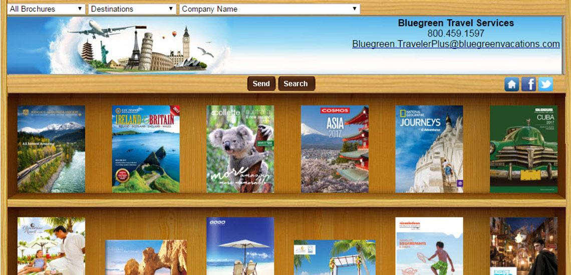 Bluegreen Travel Services' Brochure Rack