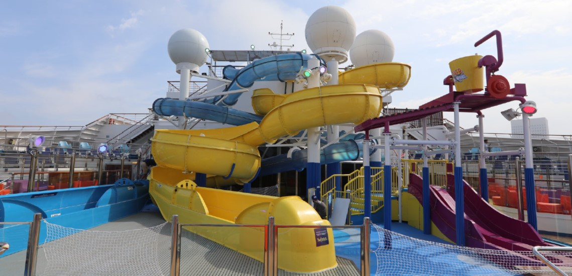 WaterWorks aqua park aboard the Carnival Freedom