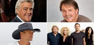 Carnival LIVE 2017 performers include Jay Leno, Jeff Foxworthy, Tim McGraw and Little Big Town.