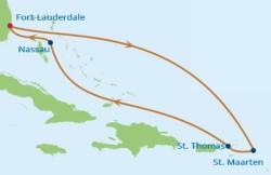 Celebrity Cruises Eastern Caribbean Holiday cruise itinerary