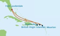 Celebrity Cruises Eastern Caribbean cruise itinerary