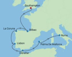 Celebrity Cruises Europe cruise itinerary