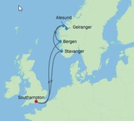 Norwegian Fjords cruise tour itinerary