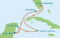 Celebrity Cruises Western Caribbean cruise itinerary