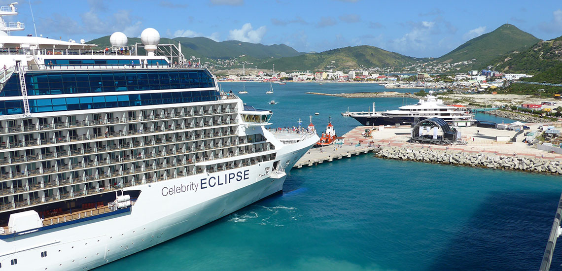 Celebrity Eclipse docked at St. Maarten