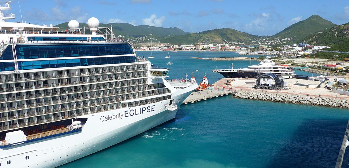 Celebrity Eclipse docked at St. Maarten