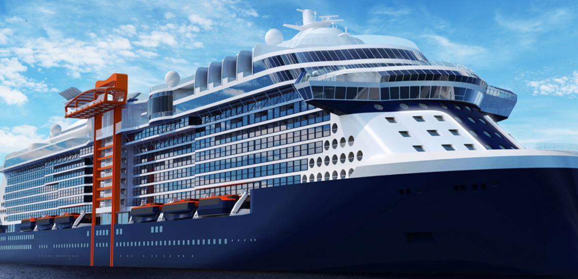 Celebrity Edge Ship rendering