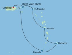 Celebrity Summit Southern Caribbean Cruise itinerary