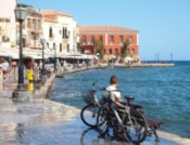 Chania, Greece waterfront