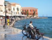Chania, Greece waterfront