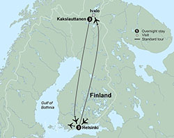 Collette Northern Lights of Finland itinerary