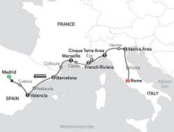 Cosmos Mediterranean Flavors itinerary