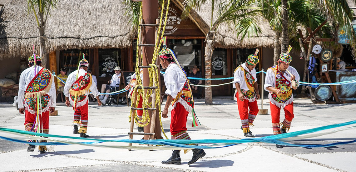 Costa Maya Mexico ethnic dancers