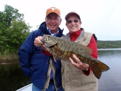 Couple with Smallmouth Bass