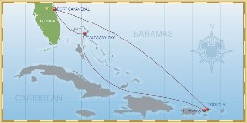 Disney Cruise Line Eastern Caribbean Cruise itinerary