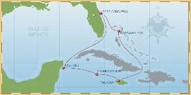 Disney Cruise Line Western Caribbean Cruise itinerary
