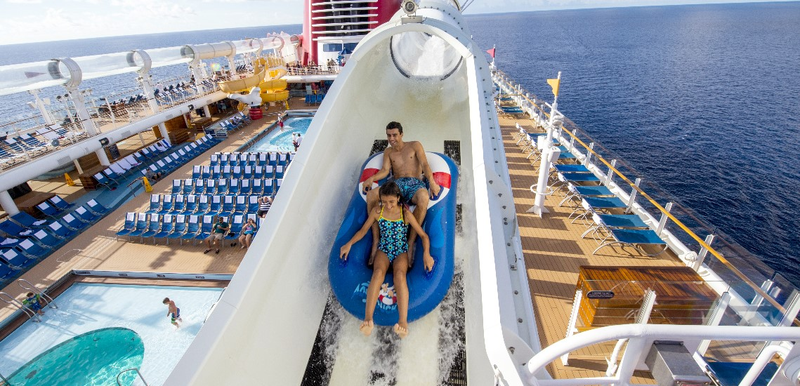 Disney cruise ship water slide