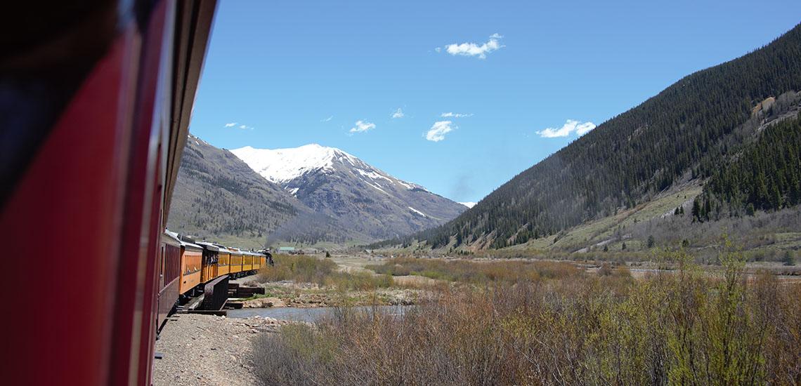 Durango & Silverton Railroad approaching Silverton