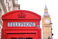 Telephone booth by Big Ben