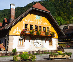 Clock shop in Black Forest