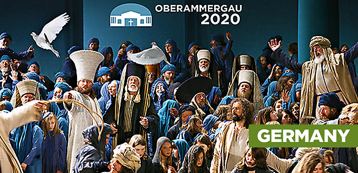 Scene from Oberammergau Passion Play