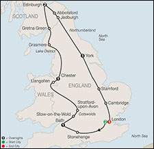 Globus Britain Sampler Tour itinerary