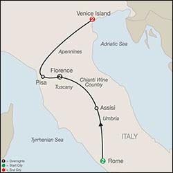 Globus Italian Escape Tour itinerary