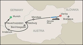 Globus Munich Salzburg Vienna Tour itinerary