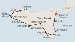 The Sicilian tour itinerary