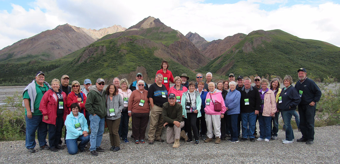 Group shot at Denali National Park