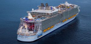 Royal Caribbean International's Harmony of the Seas aerial shot