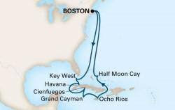 Holland America Caribbean Cuba cruise itinerary